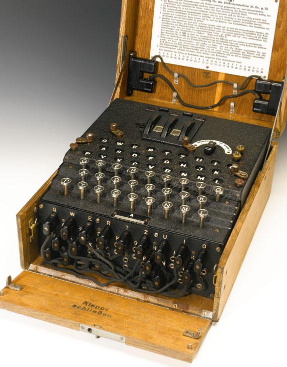 Машинки Enigma использовались немецкими военными в годы второй мировой войны