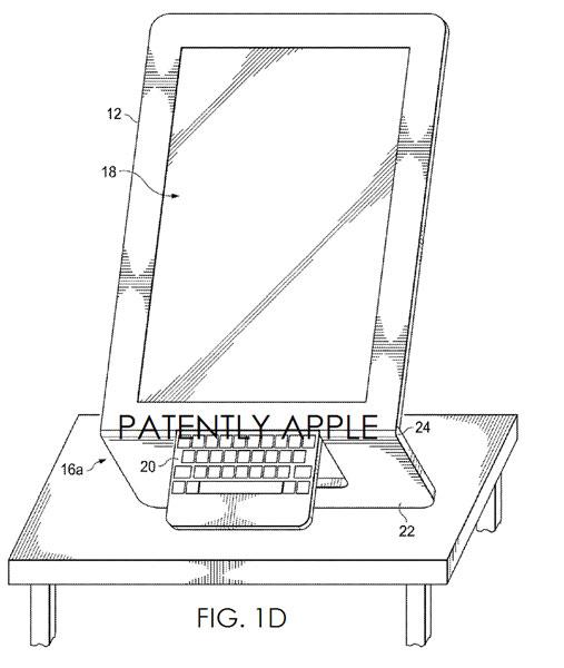 Intel пытается запатентовать планшет со складной клавиатурой