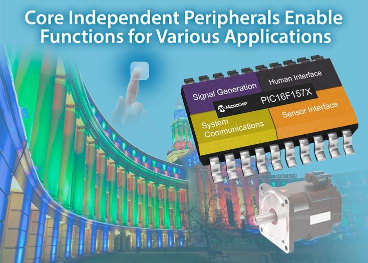 Периферийные блоки восьмиразрядных микроконтроллеров Microchip PIC16F18877 и PIC16F1579 доступны независимо от ядра