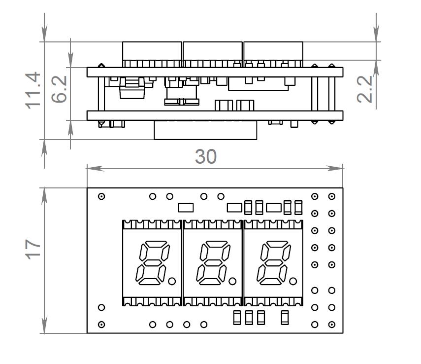 Коммутатор фар и фонарей для автомобиля с контролем состояния аккумулятора и термометрами - 3