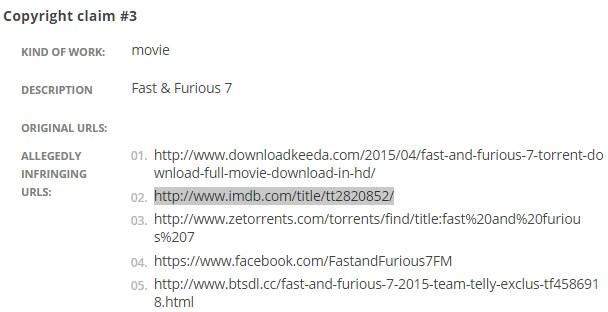 Universal Pictures просит Google убрать из поиска страницы IMDb, адрес 127.0.0.1, и не только - 2