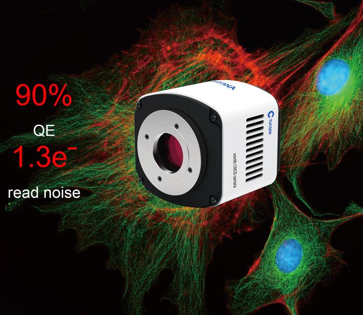 Tucsen Dhyana 90 — первая в мире научная камера с квантовой эффективностью 90%, в которой используется датчик типа CMOS