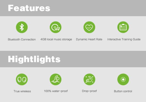 Gogo-S: беспроводные водозащищенные наушники для спортсменов - 2