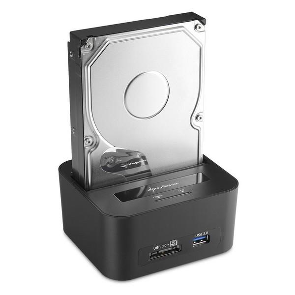 Sharkoon представила док-станции  QuickPort XT Duo Clone и QuickPort XT HC