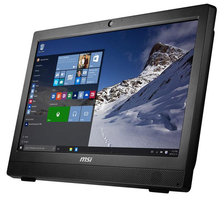 Компьютер MSI Pro 24 2M на процессоре Intel Core i5-4460S поставляется с ОС Microsoft Windows 10