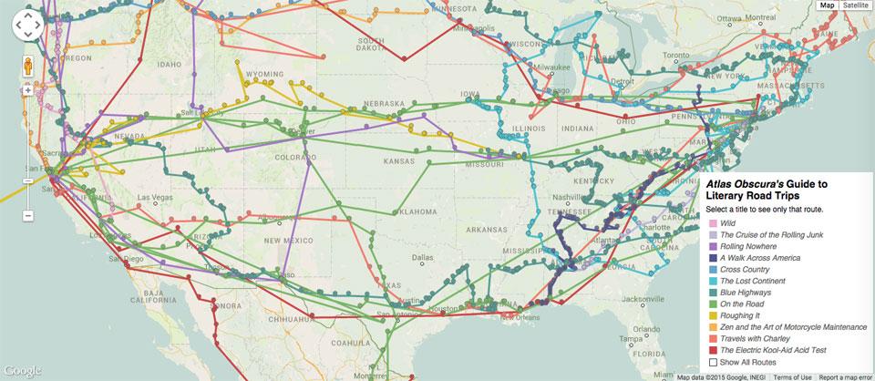 Интерактивная карта показывает путешествия литературных персонажей по США - 1
