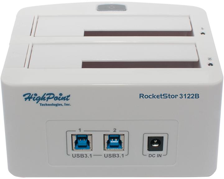 HighPoint реализовала поддержку USB 3.1 в док-станциях RocketStor 3112C и 3122B и карте RocketU 1322A - 3