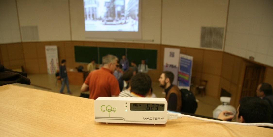 Тестирование СО2 детектора. Измерение когнитивной атмосферы в цеху 3d-принтеров, в космолагере, в коворкинге, в хакспейсе - 12