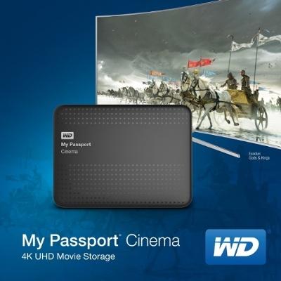 Накопитель WD My Passport Cinema 4K Ultra HD работает с сервисом Vidity
