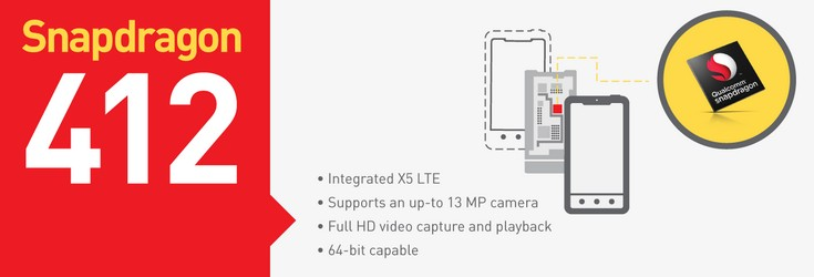 Qualcomm представила SoC Snapdragon 412 и Snapdragon 212