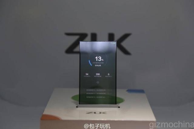 Zuk показала прототип смартфона с прозрачным экраном