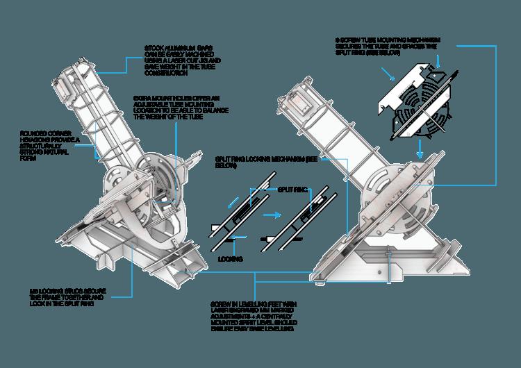 Модель телескопа для распечатки на 3D-принтере - 3