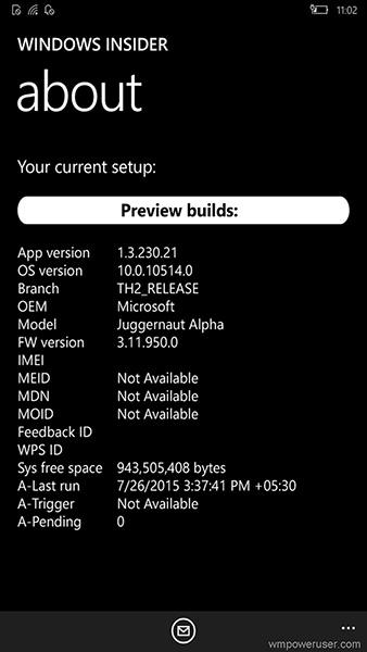 Смартфон Juggernaut Alpha тестируется Microsoft