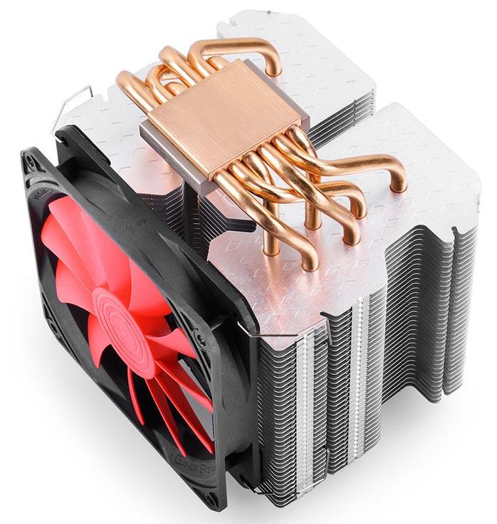 Процессорный охладитель DeepCool GamerStorm Lucifer K2 весит чуть больше килограмма