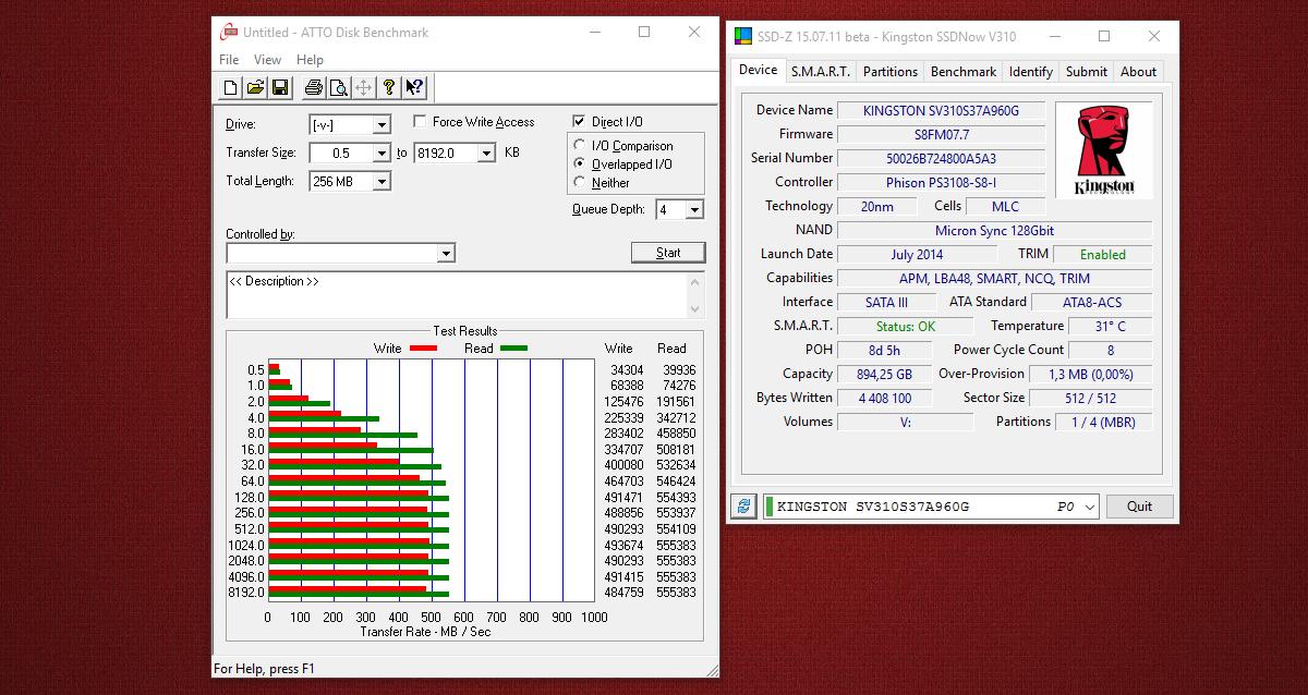 [Тестирование] Твердотельный накопитель Kingston V310 емкостью 960 гигабайт - 7