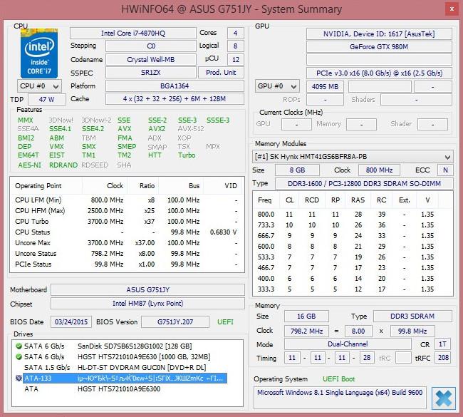 Обзор игрового ноутбука ASUS G751JY - 9