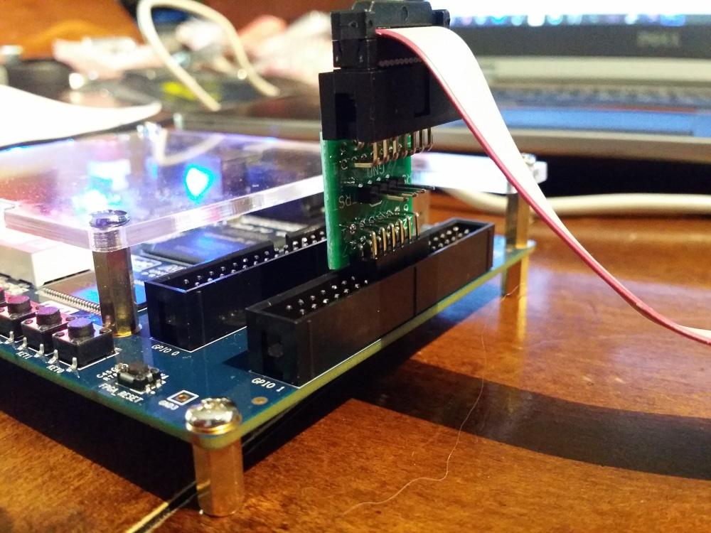 Рекомендуемое соединение пробы BusBlaster с FPGA  платой Terasic DE0-CV
