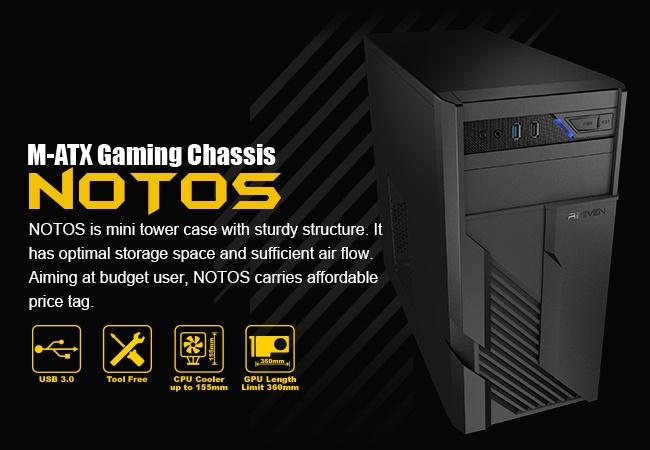 Доступный корпус Reeven Notos поддерживает видеокарты длиной до 360 мм - 1