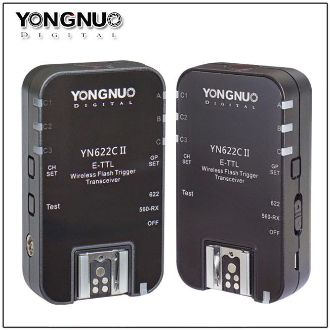 Цена комплекта из двух приемопередатчиков Yongnuo YN622C II примерно равна $75