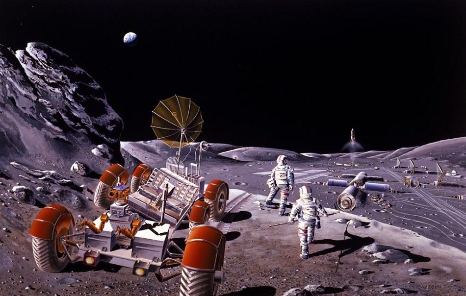 Проекты лунных баз: история - 1