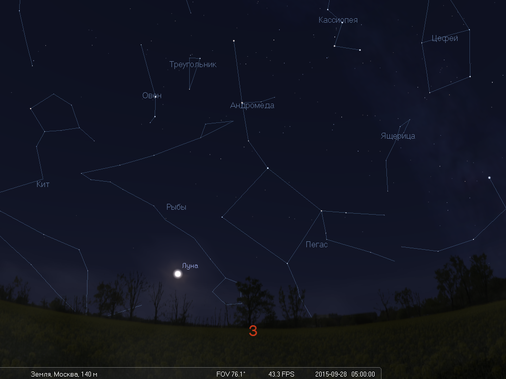 Что будет видно на небе утром 28 сентября во время лунного затмения - 9