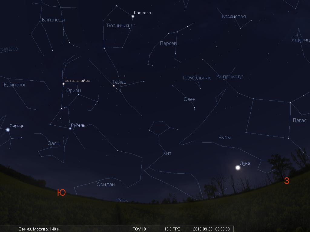 Что будет видно на небе утром 28 сентября во время лунного затмения - 1