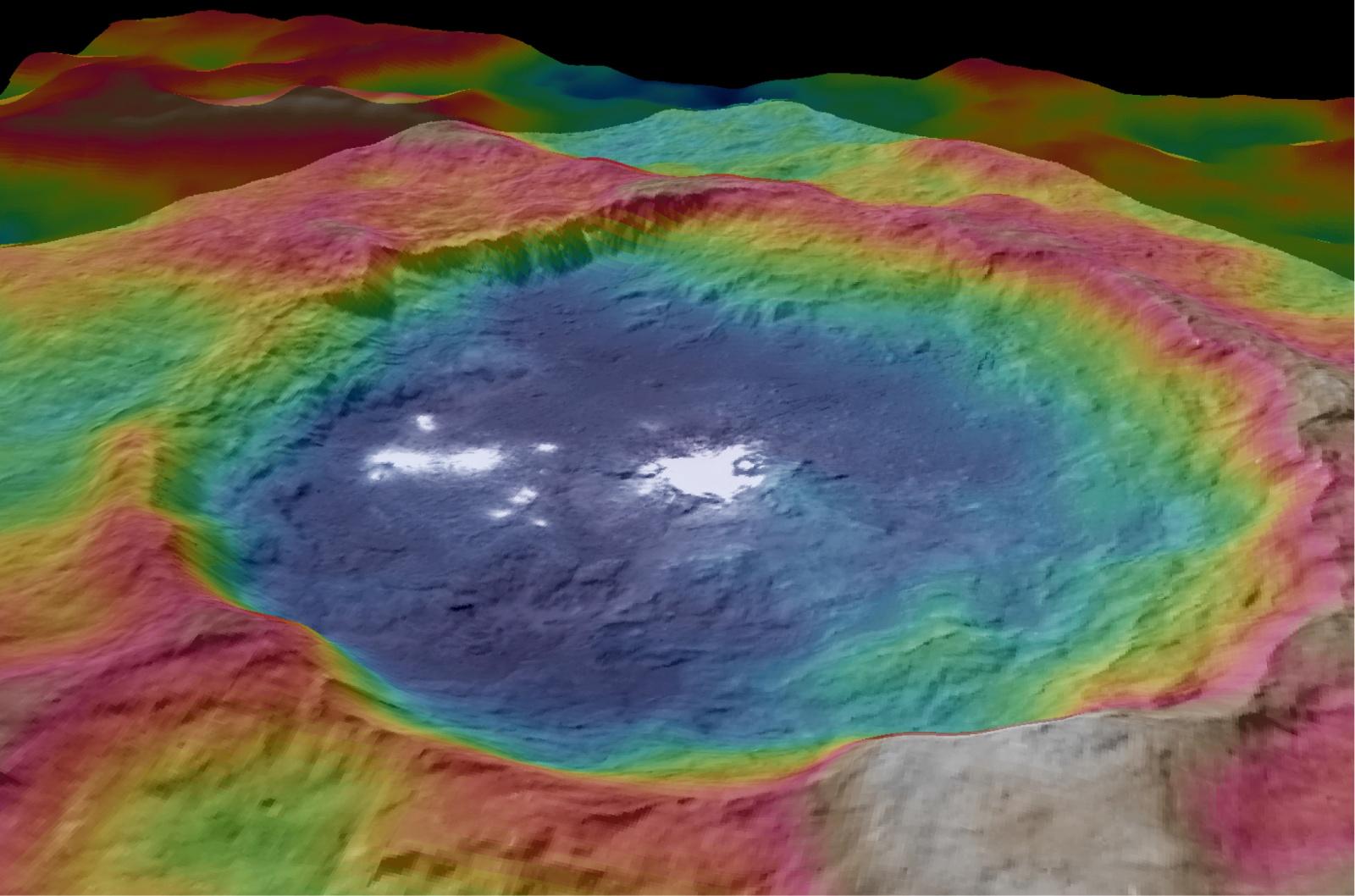 Церера продолжает удивлять ученых: неправильная геометрия кратеров и электромагнитные вспышки - 3