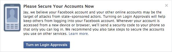 Facebook предупредит пользователей о спонсируемых правительствами атаках - 1