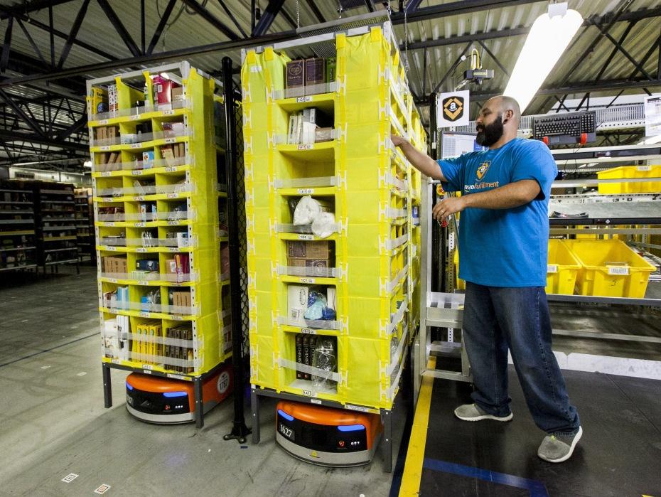 На складах Amazon теперь работает 30 тысяч роботов вместо 15 тысяч (+ фото со складов компании) - 1