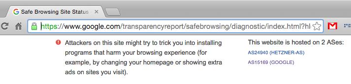 Сбой в работе Google malware detection(?) - 3