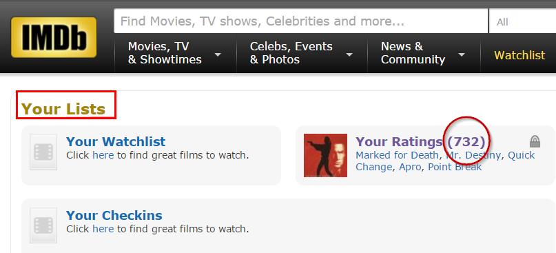 Перенос оценок фильмов с КиноПоиска на IMDB - 14