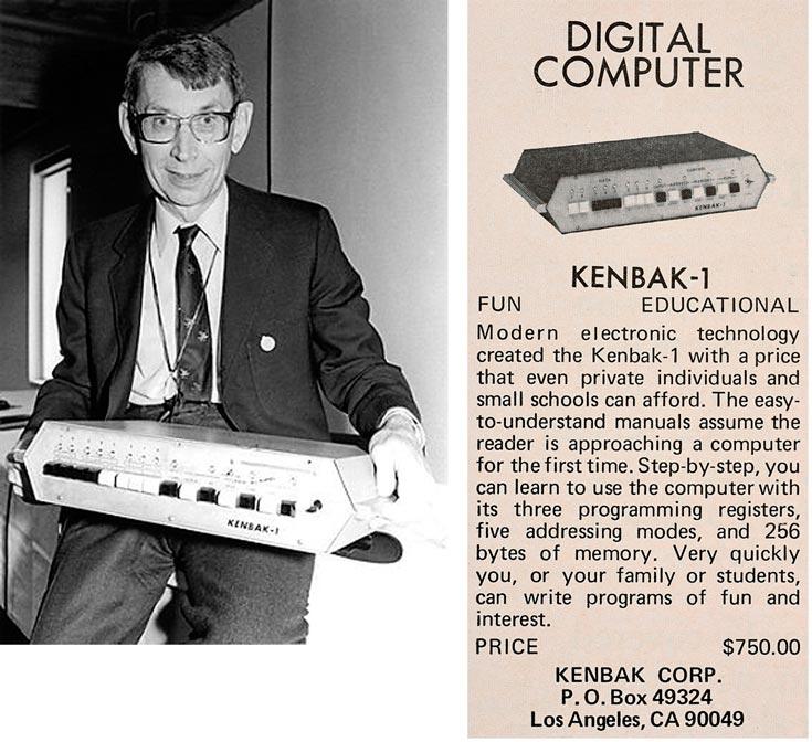 Компьютер Kenbak-1 был разработан до появления микропроцессоров