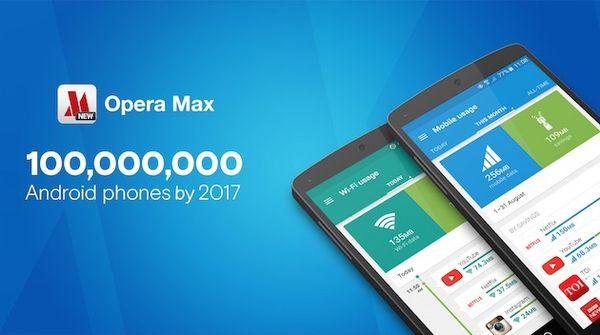 Приложение Opera Max должно быть предустановлено на 100 млн смартфонов к 2017 году