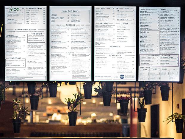 Какими бывают меню в ресторанах: Электроника, магниты и мел - 2