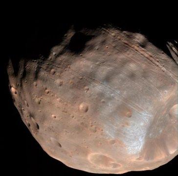 Спутник Марса Фобос постепенно разрушается под воздействием приливных сил - 1