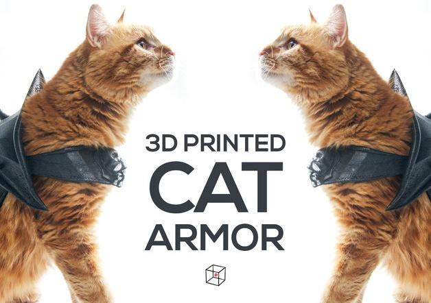Эффектная броня для кота, созданная на 3D-принтере - 1