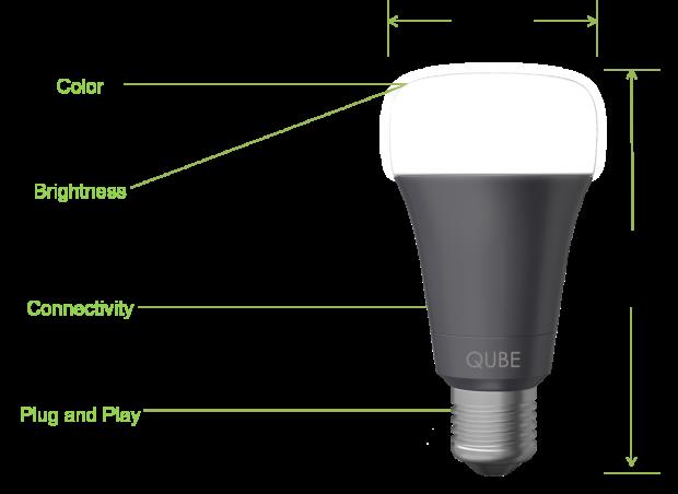 Qube — лампа, которая оповещает о входящих и синхронизируется с Fitbit, за $19 на Indiegogo - 1
