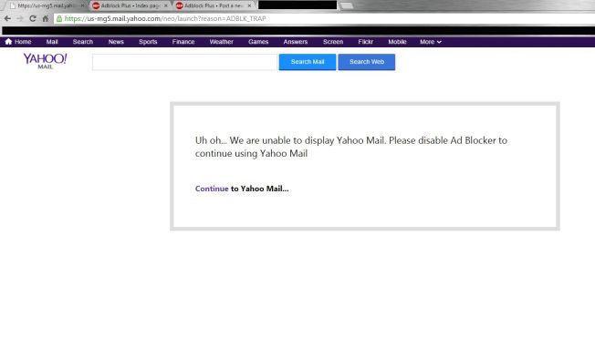 Почта Yahoo Mail забанила часть пользователей AdBlock - 1