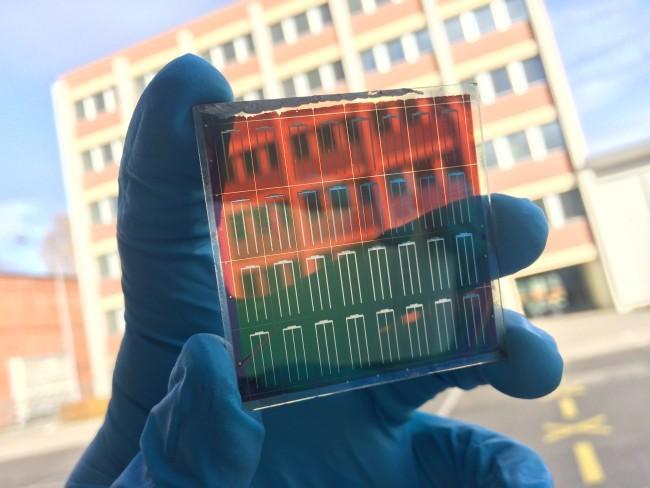 Двуслойные полупрозрачные фотоэлементы с плёнкой из перовскита - 1