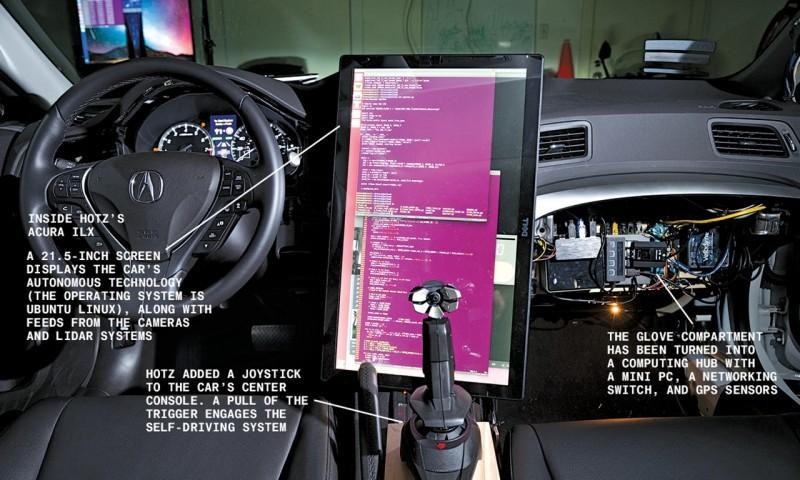 Знаменитый хакер Geohot собрал беспилотный автомобиль у себя в гараже - 2