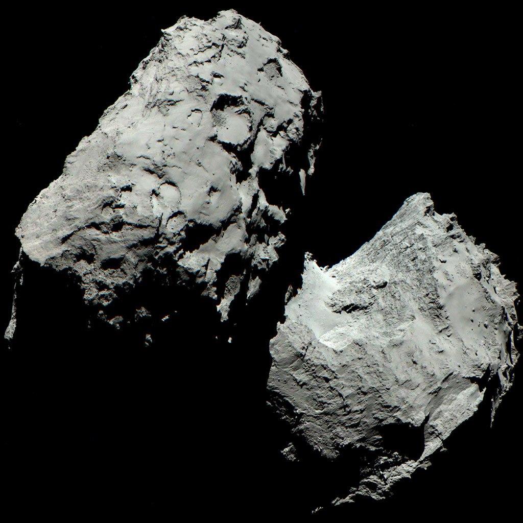 Космическое агентство ESA выложило в Сеть новые фотографии кометы Чурюмова-Герасименко - 3