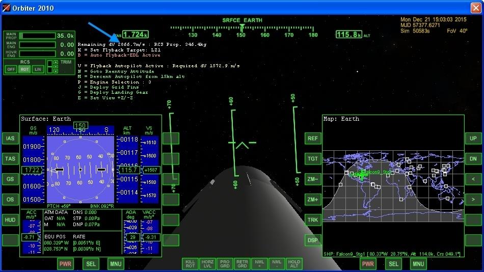 Летим и садимся вместе с Falcon 9R - 13