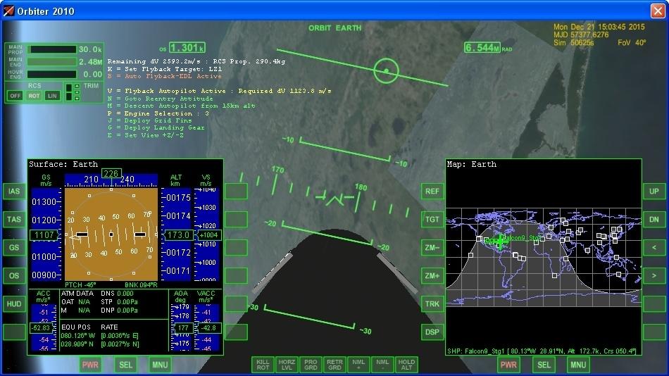 Летим и садимся вместе с Falcon 9R - 14