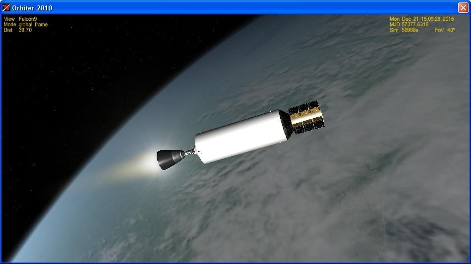 Летим и садимся вместе с Falcon 9R - 23