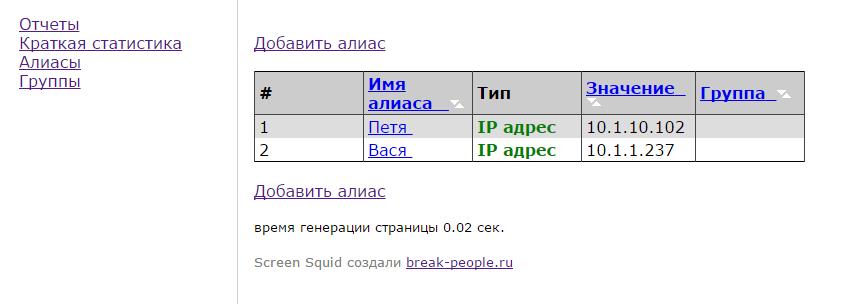Сравнение свободных программ учета трафика SQUID - 54