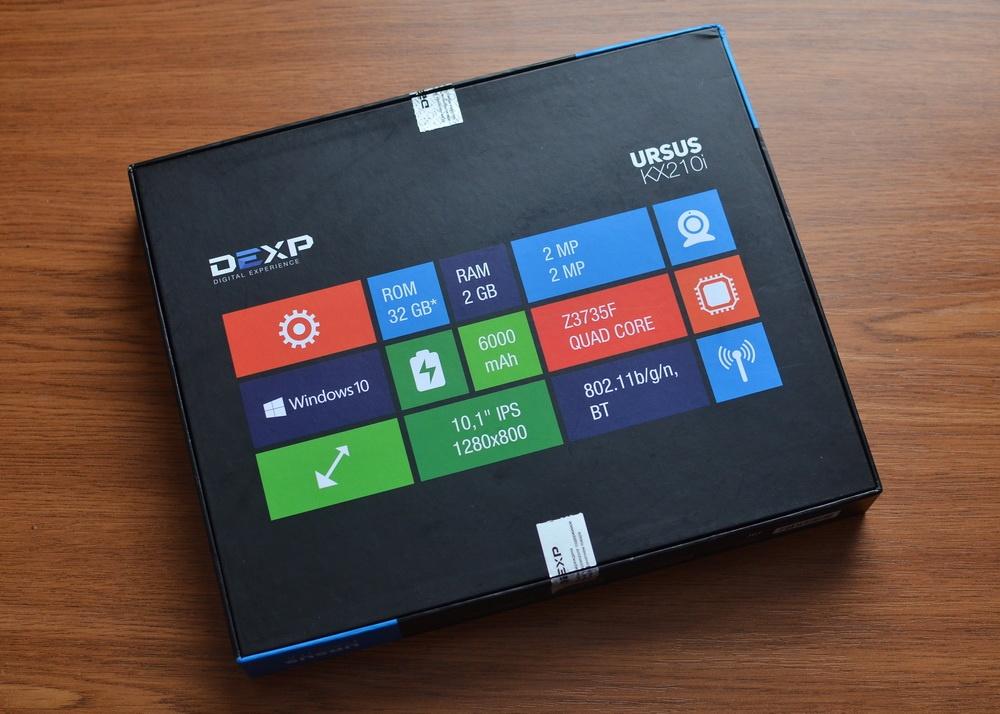 DEXP Ursus KX210i – планшет-трансформер на Windows 10 с процессором Intel® Atom™ - 4