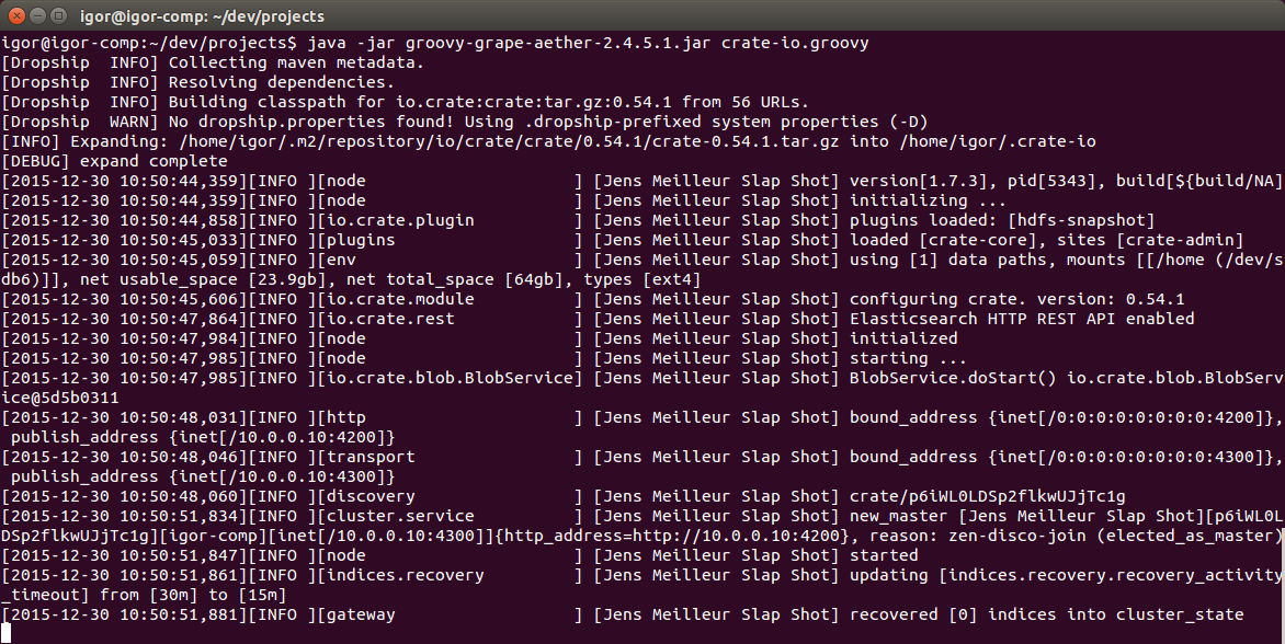 SQL JOIN, Elasticsearch и установка из binary repository manager - 2