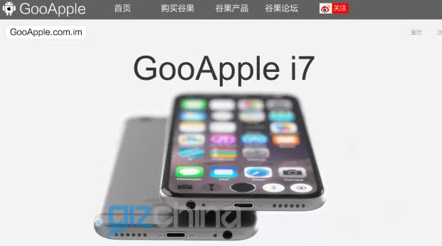 Компания GooPhone уже представила клон iPhone 7 под названием GooApple i7