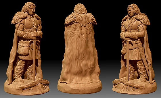 Победители конкурса по скульптингу персонажей по мотивам «Игры престолов» - 2