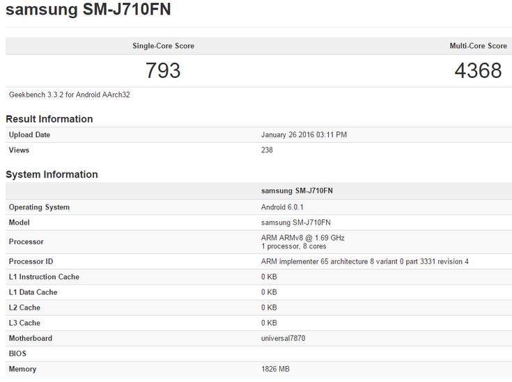 В некоторых странах смартфон Samsung Galaxy J7 будет оснащён SoC Exynos 7870